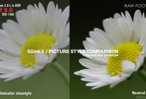 Canon 5Dmk3 REVIEW Part 1 – Picture Style comparison, Technicolor
